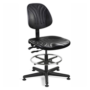 Bevco 7301D Dura Polyurethane Chair, Black Nylon Base, Mushroom Glides, Black
