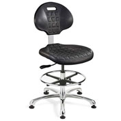 Bevco 7350-BLK Everlast Polyurethane Chair, Aluminum Base, Mushroom Glides, Black