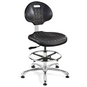 Bevco 7550-BLK Everlast Polyurethane Chair, Aluminum Base, Mushroom Glides, Black