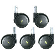 Bevco CARD5S ESD Dual Wheel Hard Floor Casters