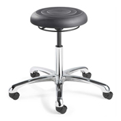 "Bevco J3050-GRP ErgoLux Jr 21.5""H Backless Stool, Soft Polyurethane Seat, Graphite"