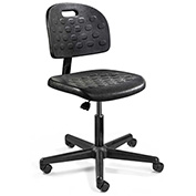 Bevco Polyurethane Office Chair - Desk-Height with Casters - Black - Breva Series