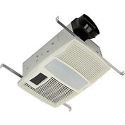 Broan QTX110HL Ventilation Fan W/Heater Incandescent Light & Night Light 110CFM 0.9 Sones