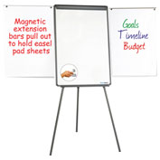 MasterVision Dry Erase Tripod Easel w/ Extension Bars, Black Frame