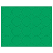"Whiteboard Magnets - 3/4"" Circles - Green - 20/Pack"