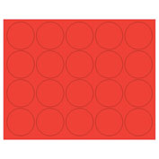 "Whiteboard Magnets - 3/4"" Circles - Red - 20/Pack"