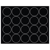 "Whiteboard Magnets - 3/4"" Circles - Black - 20/Pack"