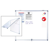 "MasterVision Indoor Magnetic Dry Erase Enclosed White Board, 47""W x 38.5""H"