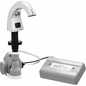 Bradley Automatic Liquid Soap Dispenser 27oz. w/Batteries & Soap, Counter Mount Silver - 6315-KT0000