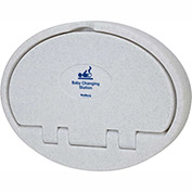 Bradley Baby Changing Station, Plastic Gray/White Speckled - 961-000000