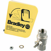 "Bradley® S45-122 1/2"" Ball Valve/Plastic Handle Prepack"