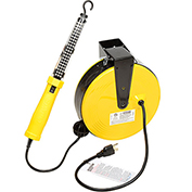 Bayco® SL-864 60 LED Work Light, Retractable Cord Reel, 50'L Cord, 18/2 GA, Yellow