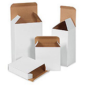 "White Chip Carton 4"" x 4"" x 4"" - 250 Pack"