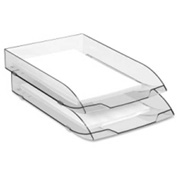 CEP Stackable Letter Tray Ice Black Single Pack