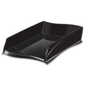 CEP Stackable Letter Tray Black Single Pack