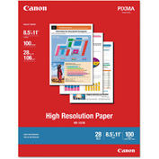 "Canon® High Resolution Paper 1033A011, 8-1/2"" x 11"", White, 20/Pack"