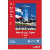 "Canon® Matte Photo Paper 7981A014, 4"" x 6"", White, 120/Pack"