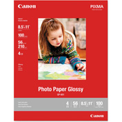 "Canon® GP-601 Glossy Photo Paper 8649B004, 8-1/2"" x 11"", White, 100/Pack"