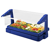 Cambro BBR720186 Buffet Bar with Sneeze Guard 24 x 73, Navy Blue