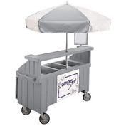 "Cambro CVC72191 - Camcruiser Vending Cart, 1 full size pan, 6"" deep, Granite Gray"