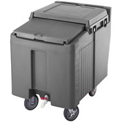 Cambro ICS125L191 - Ice Caddies, Granite Gray, 125 Lbs. Cap., 2 Swivel, 2 locking