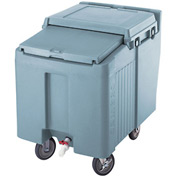 Cambro ICS125L401 - Ice Caddy, Slate Blue, 125 Lbs. Cap., 2 Swivel, 2 locking