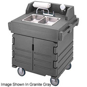 Cambro KSC402426 - Camkiosk Hand Sink Cart,  Black with Granite Green Top & Doors