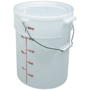 Cambro PWB22148 - Pail With Bail 22qt, White - Pkg Qty 6