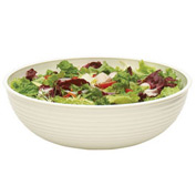 "Cambro RSB15CW148 - Bowl Ribbed Camwear Round 15"", White - Pkg Qty 4"