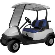 Classic Accessories Fairway Golf Car Set Cover Neoprene Paneled, Navy - 40-035-015501-00