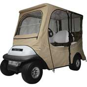 Classic Accessories Fairway Club Car® Precedent Enclosure, Long Roof, Khaki - 40-062-345801-00