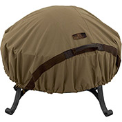 Classic Accessories Hickory Fire Pit Cover Fits Small 44 inch Diameter, Tan - 55-199-012401-EC