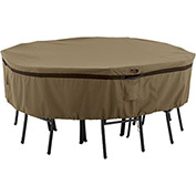 Classic Accessories Hickory Table and Chair Cover Round, Small, Tan - 55-217-022401-EC