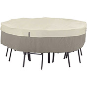 Classic Accessories Belltown Round Table and Chair Cover Medium, Grey - 55-252-011001-00