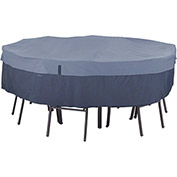 Classic Accessories Belltown Round Table and Chair Cover Medium, Blue - 55-275-015501-00
