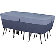 Classic Accessories Belltown Rectangular/Oval Table and Chair Cover Large, Blue - 55-279-035501-00