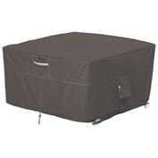 "Classic Accessories Ravenna 42"" Square Fire Pit Table Cover, Taupe - 55-417-015101-EC"