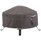 Classic Accessories Ravenna Full Coverage Fire Pit Cover, Round, Large - 55-485-015101-EC