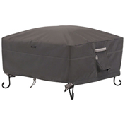 Classic Accessories Ravenna Full Coverage Fire Pit Cover, Square, Small - 55-486-015101-EC