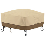 Classic Accessories Veranda Full Coverage Fire Pit Cover, Square, Small - 55-490-011501-00