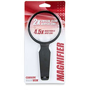 Carson Optical Magniview™ 2x Hand Held Magnifier W/ 4.5x Spot Lens