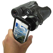 Carson® IB-542 HookUpz™ iPhone 4/4S/5/5S/SE Adapter for Most Full Sized Binoculars