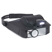 Carson® LV-10 LumiVisor™ LED Lighted 2x/3x/5x/6x Head Worn Magnifier