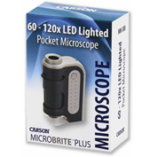 Carson® MM-300 MicroBrite™ Plus 60x-120x LED Lighted Pocket Microscope