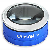 Carson Optical MT-33 3X Touch Activated LED Lighted Loupe Magnifier