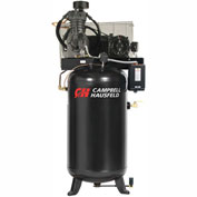 Campbell Hausfeld Two-Stage Electric Air Compressor CE7051FP, 208V-230V/460V, 5HP, 3PH, 80 Gal