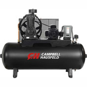 Campbell Hausfeld Two-Stage Electric Air Compressor CE7053, 208V-230V/460V, 5HP, 3PH, 80 Gal