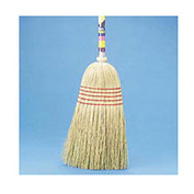 "Maid Broom Mixed Fiber Bristles, 42"" Wood Handle - BWK920YEA"
