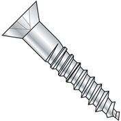 "#8 x 1-3/4"" Wood Screw - Phillips Flat Head - Steel - Zinc Plated - 100 Pack - Crown Bolt 21142"