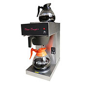 Classic Coffee Concepts GB260 Coffee Brewer, Pour-Over, 2 Warmers, Stainless Steel, W/ 2 Decanters